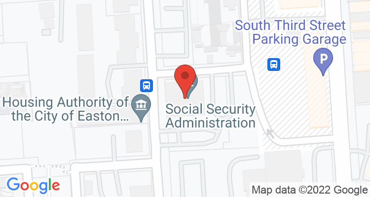 Easton, PA Social Security Office Map