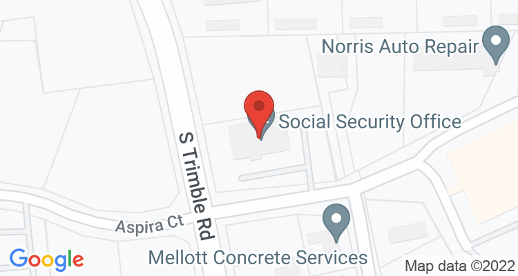Mansfield, OH Social Security Office Map