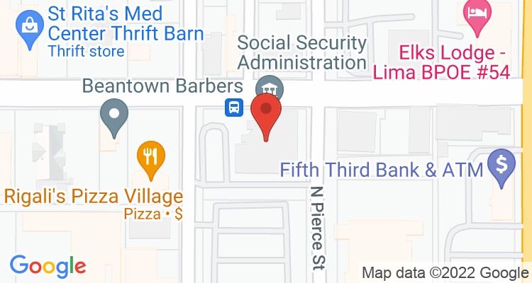 Lima, OH Social Security Office Map