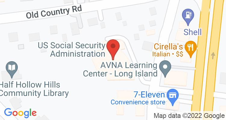 Melville, NY Social Security Office Map
