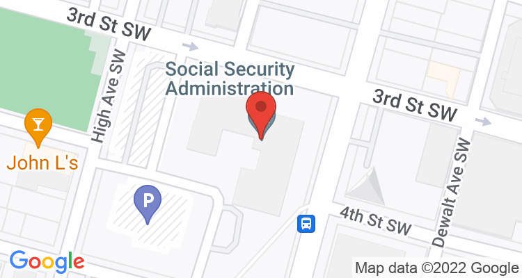 Canton, OH Social Security Office Map