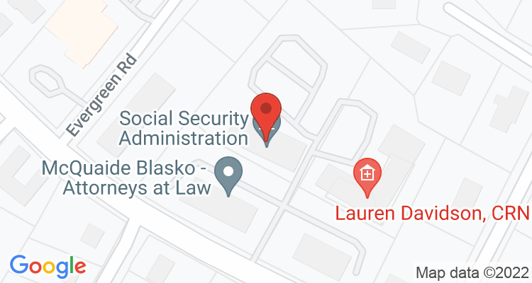 State College, PA Social Security Office Map