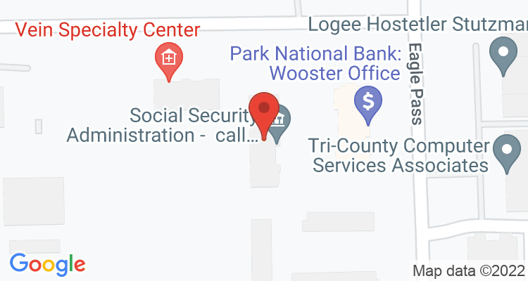 Wooster, OH Social Security Office Map