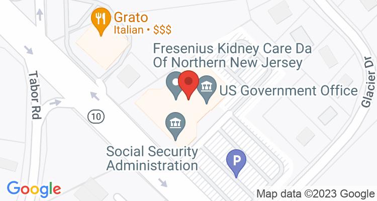 Parsippany, NJ Social Security Office Map