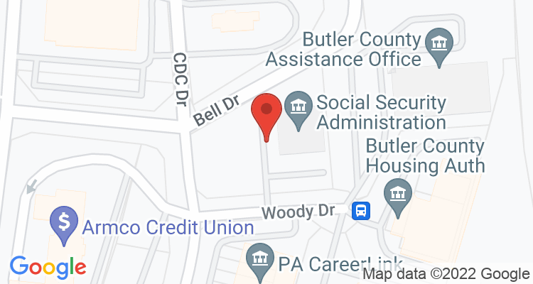 Butler, PA Social Security Office Map
