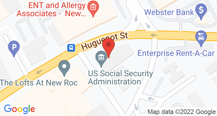 New Rochelle, NY Social Security Office Map