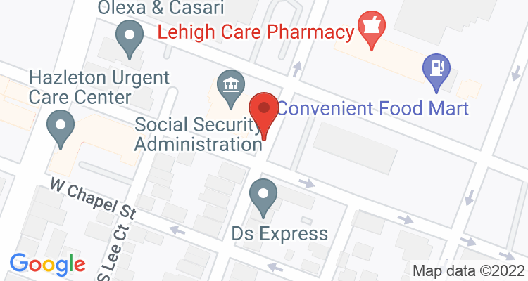 Hazleton, PA Social Security Office Map