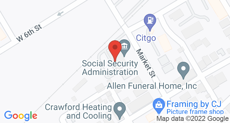 Bloomsburg, PA Social Security Office Map