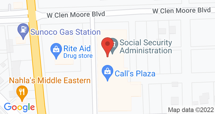 New Castle, PA Social Security Office Map