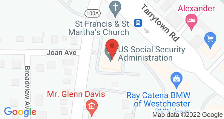 White Plains, NY Social Security Office Map