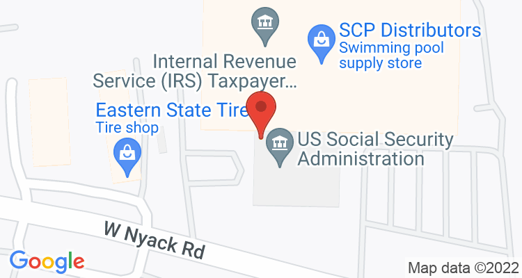 West Nyack, NY Social Security Office Map