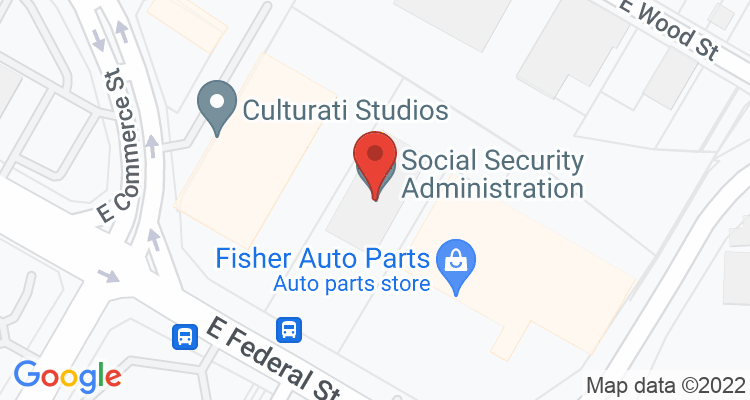 Youngstown, OH Social Security Office Map