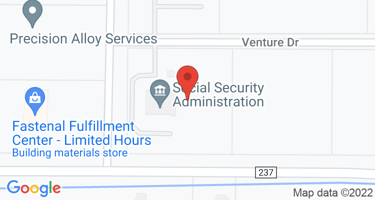 Bowling Green, OH Social Security Office Map