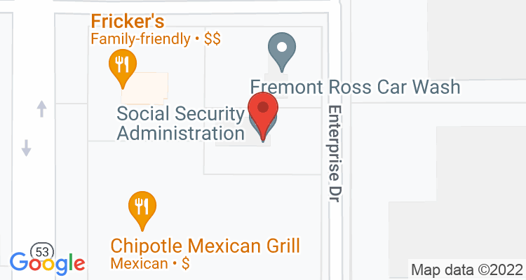 Fremont, OH Social Security Office Map