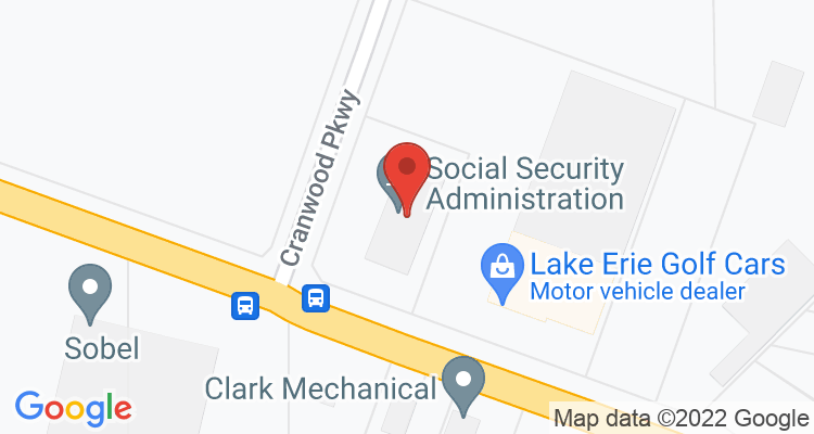 Warrensville Hts, OH Social Security Office Map