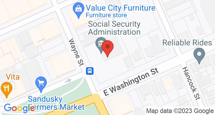 Sandusky, OH Social Security Office Map