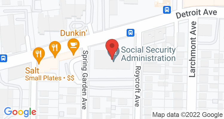 Lakewood, OH Social Security Office Map