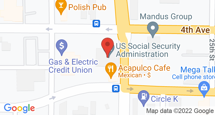 Rock Island, IL Social Security Office Map