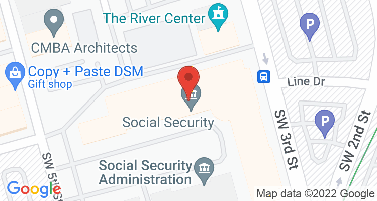 Des Moines, IA Social Security Office Map