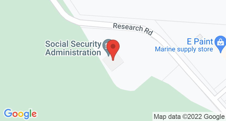 East Falmouth, MA Social Security Office Map