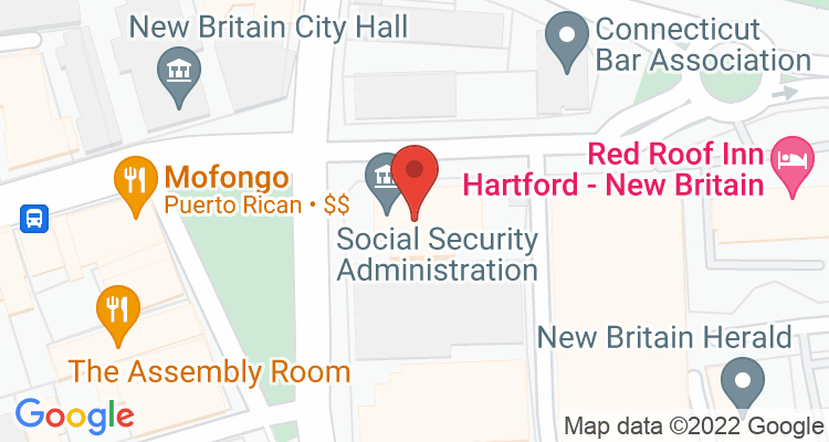 New Britain, CT Social Security Office Map