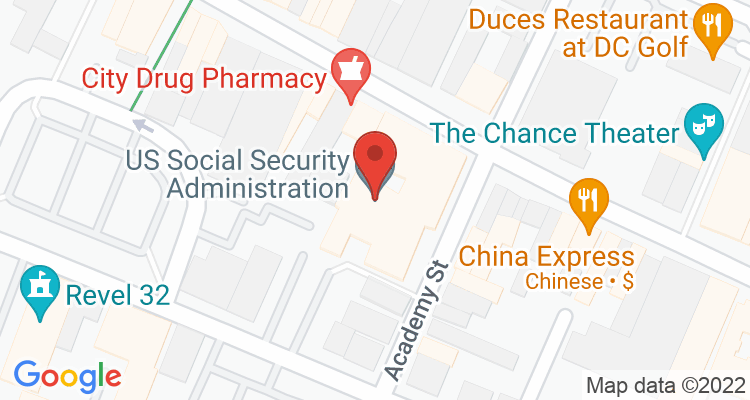 Poughkeepsie, NY Social Security Office Map