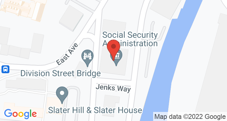 Pawtucket, RI Social Security Office Map