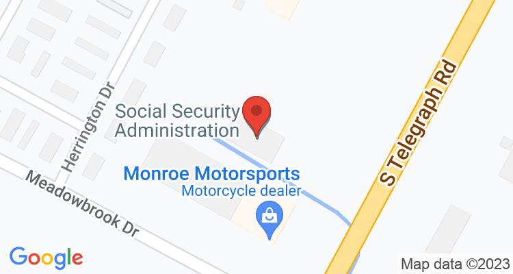 Monroe, MI Social Security Office Map