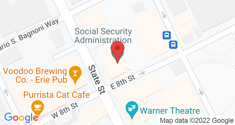 Erie, PA Social Security Office Map