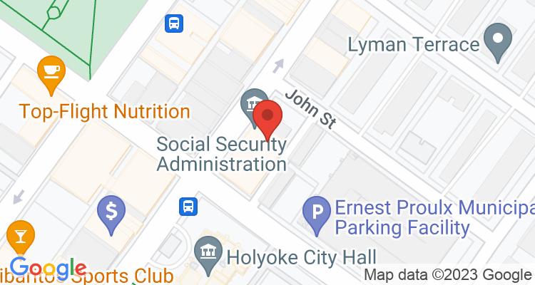 Holyoke, MA Social Security Office Map