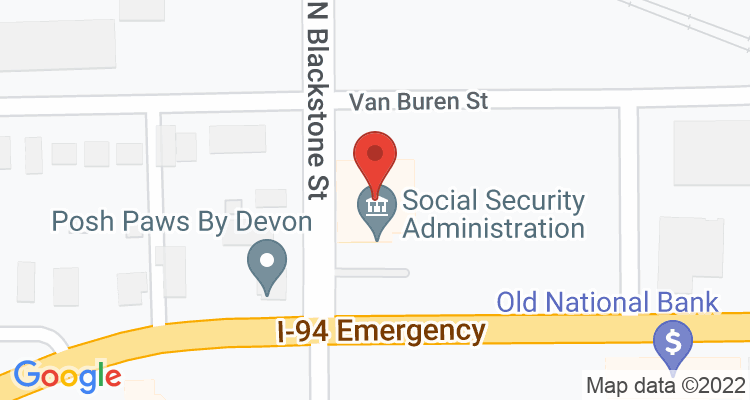 Jackson, MI Social Security Office Map