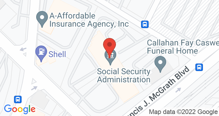 Worcester, MA Social Security Office Map