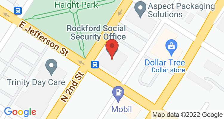 Rockford, IL Social Security Office Map