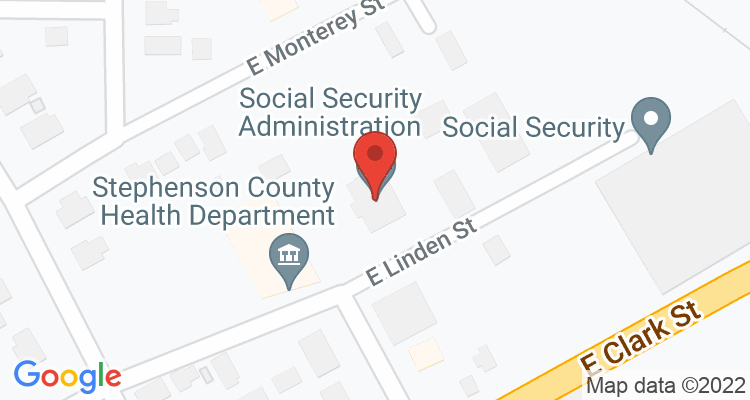 Freeport, IL Social Security Office Map