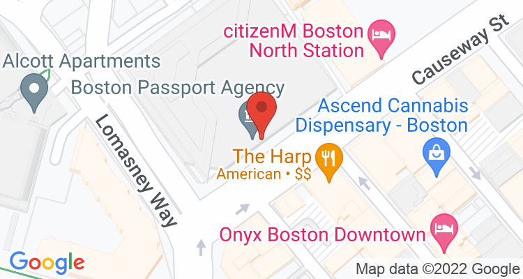 Boston, MA Social Security Office Map