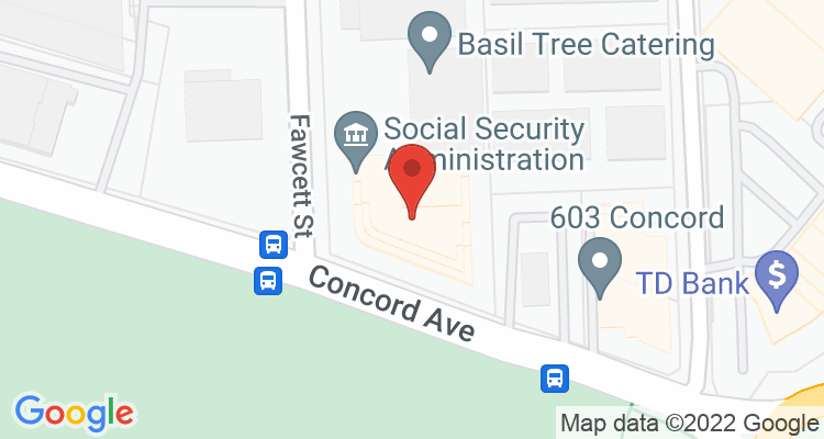 Cambridge, MA Social Security Office Map
