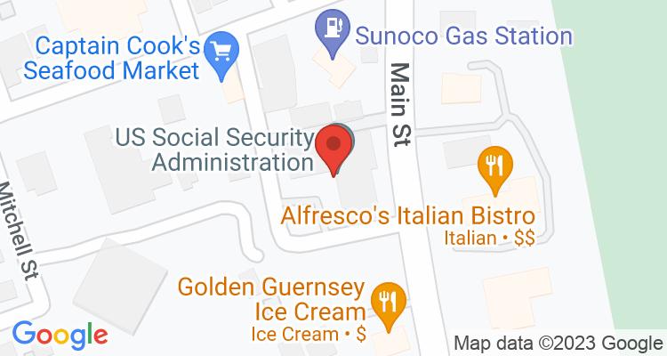 Oneonta, NY Social Security Office Map