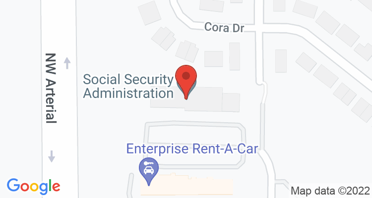 Dubuque, IA Social Security Office Map