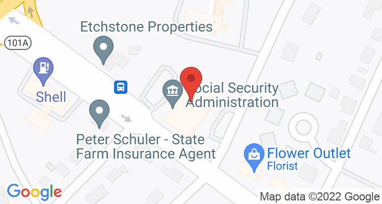Nashua, NH Social Security Office Map