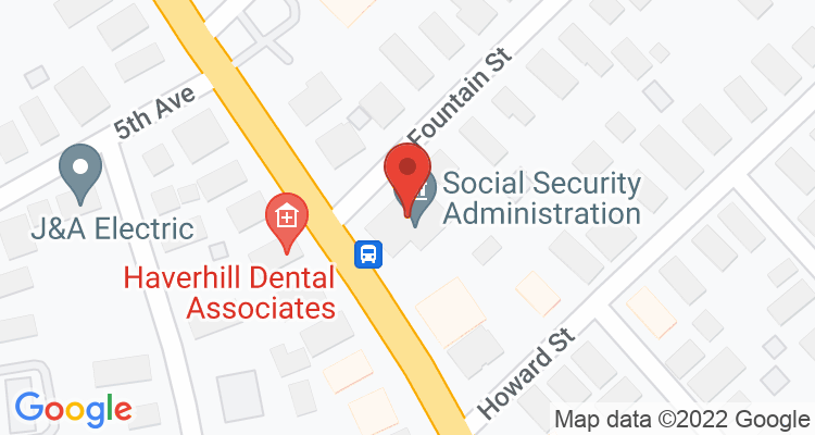 Haverhill, MA Social Security Office Map