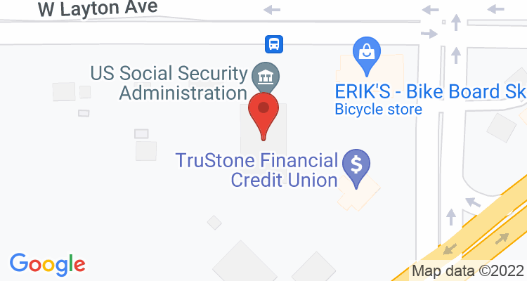 Greenfield, WI Social Security Office Map
