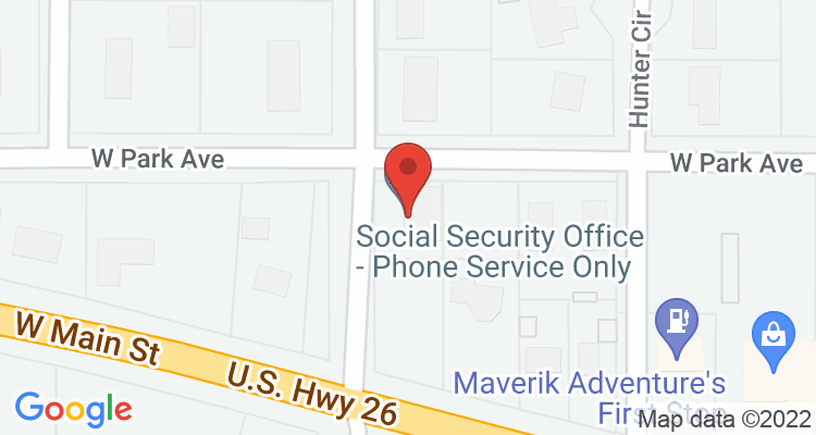 Riverton, WY Social Security Office Map