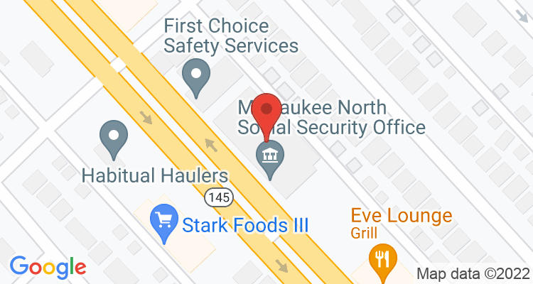 Milwaukee, WI Social Security Office Map