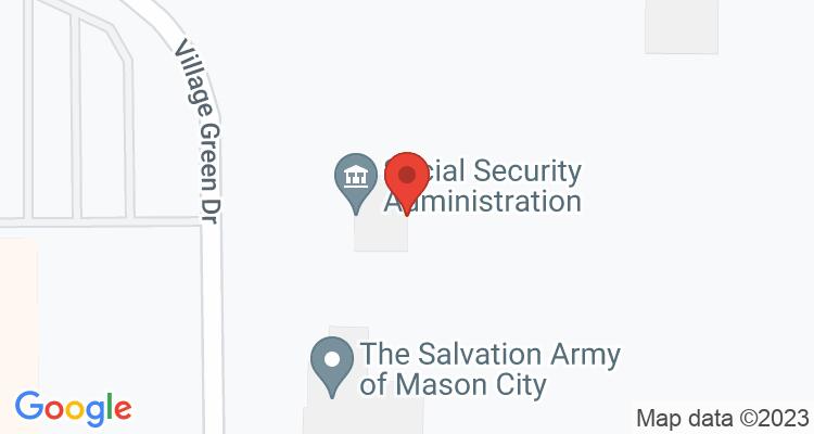 Mason City, IA Social Security Office Map