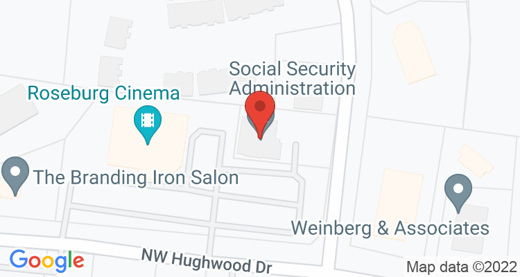 Roseburg, OR Social Security Office Map