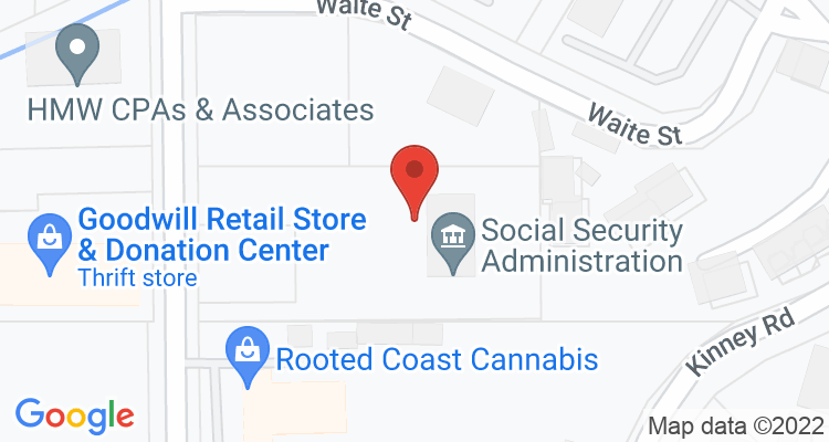 North Bend, OR Social Security Office Map