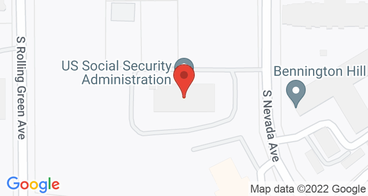 Sioux Falls, SD Social Security Office Map