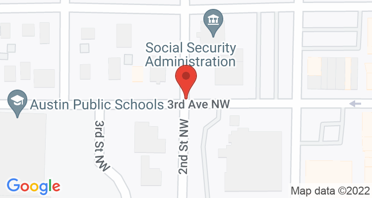 Austin, MN Social Security Office Map