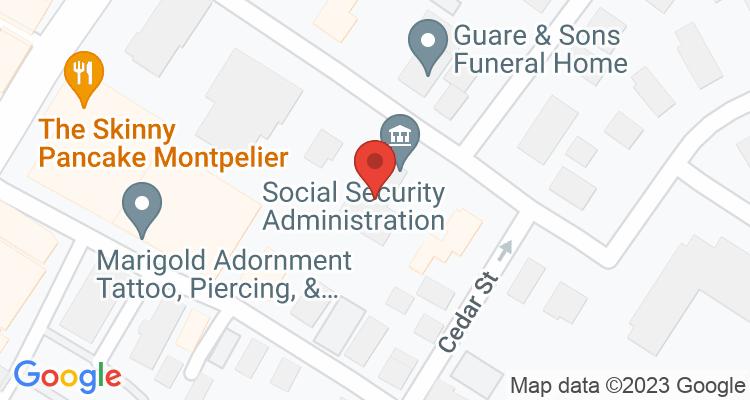 Montpelier, VT Social Security Office Map