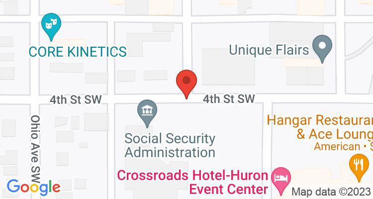 Huron, SD Social Security Office Map